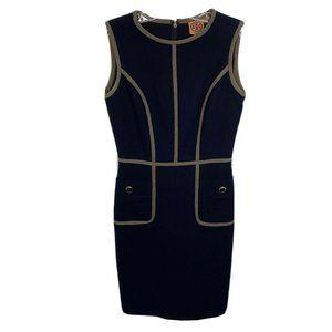 TORY BURCH Dress Sz 0 Navy Blue Wool Blend